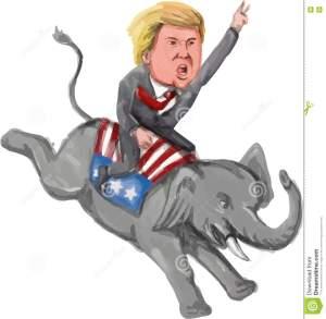 caricatura-de-donald-trump-riding-republican-elephant-71825881