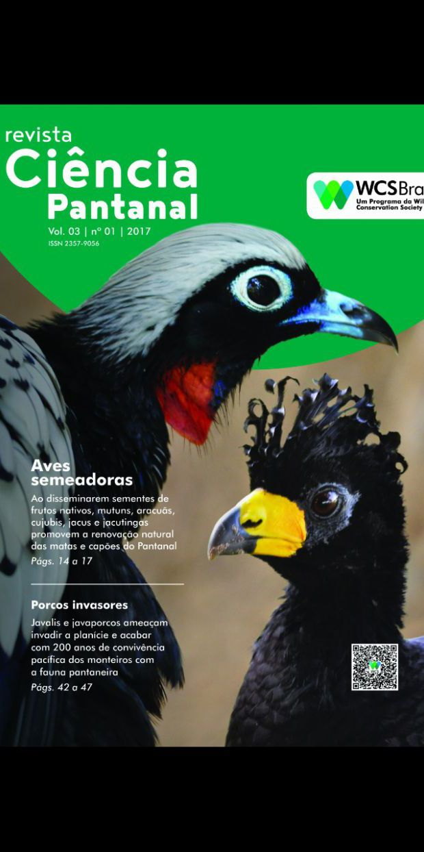capa da revista Ciência Pantanal