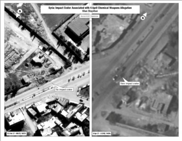 imagem do ataque americano na siria